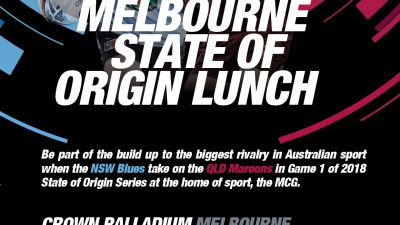 Melbourne State Of Origin Lunch